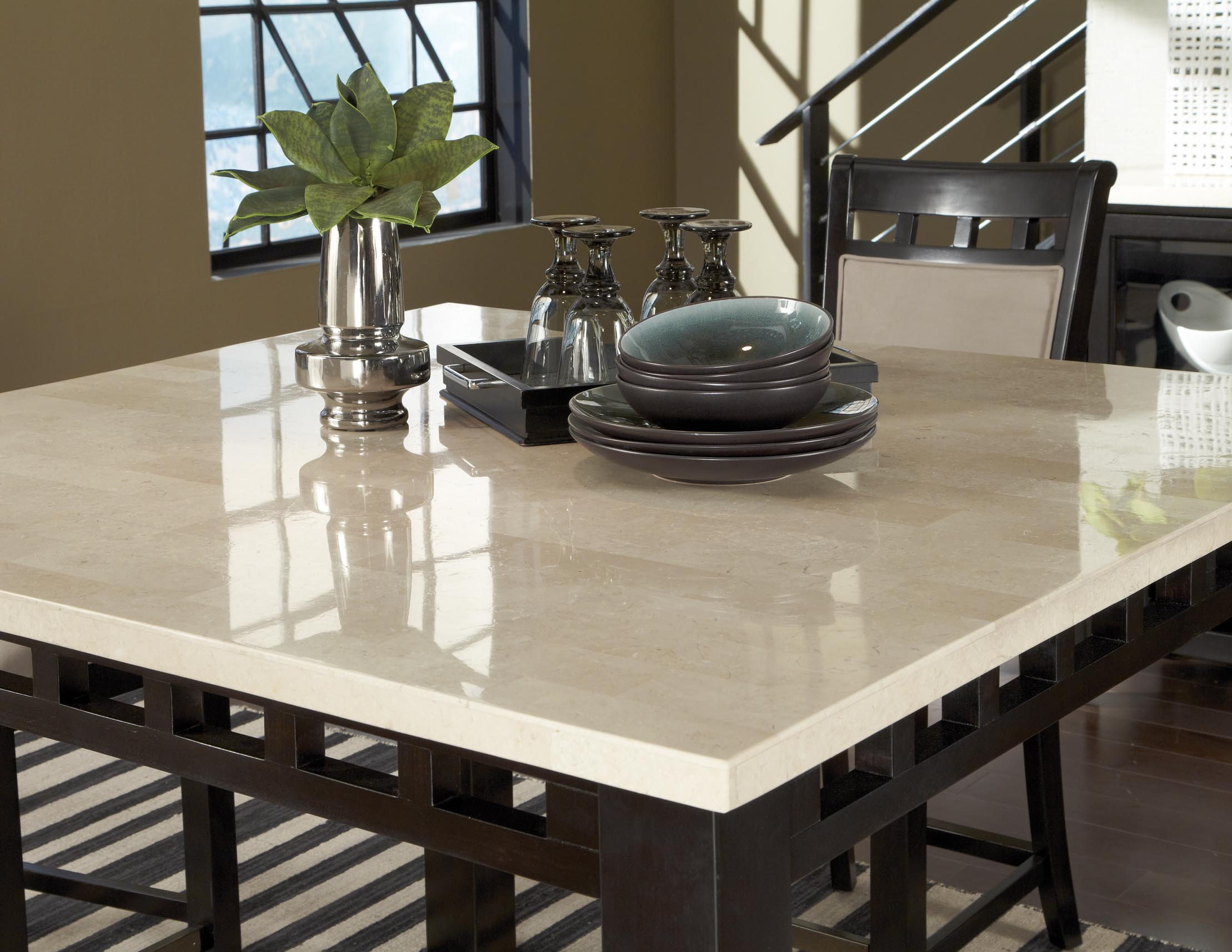 White High Dining Table Part - 45: Standard Furniture Gateway White Counter Height Dining Room 17460