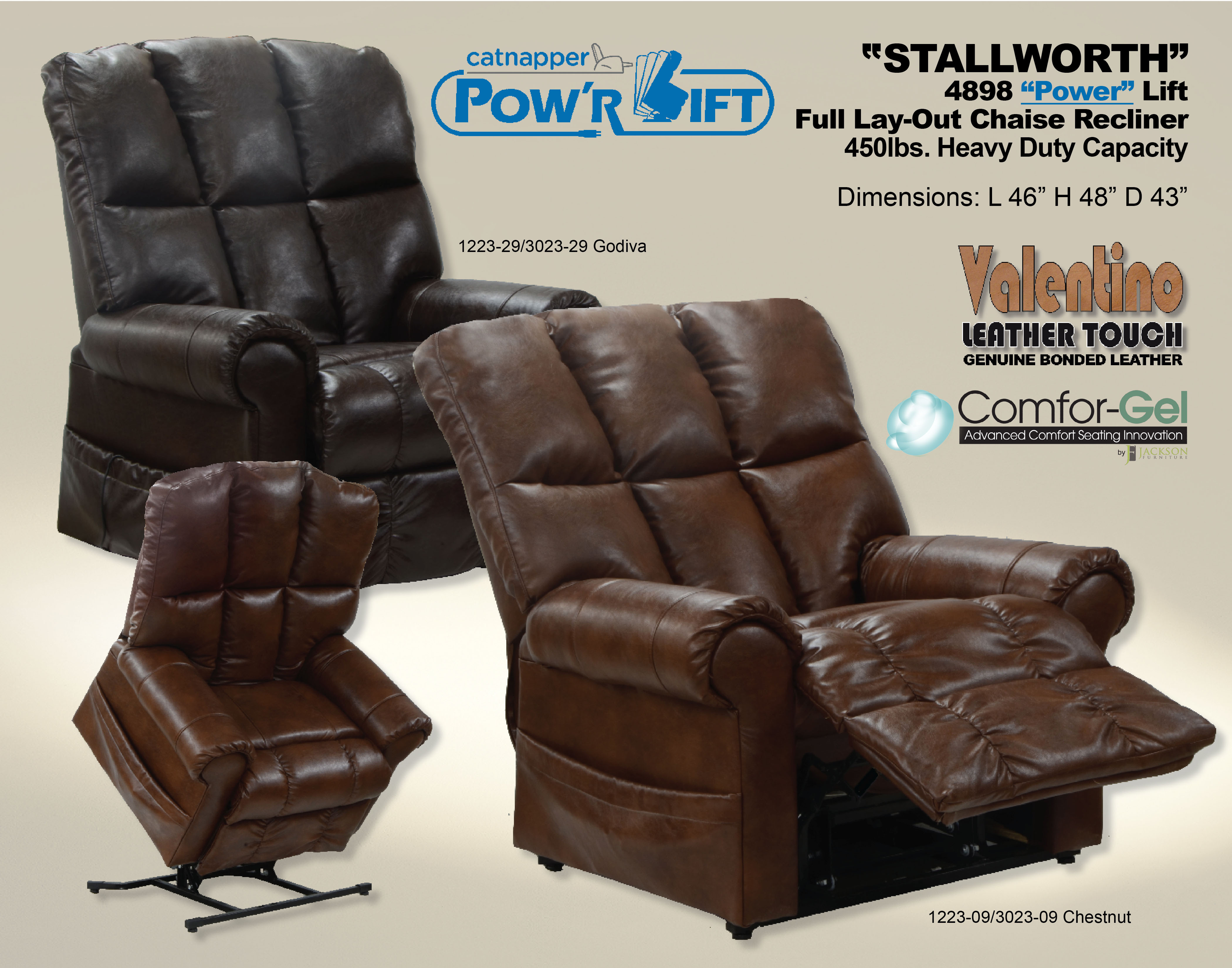 Catnapper Lift Recliner Stallworth 4898 Home Furniture