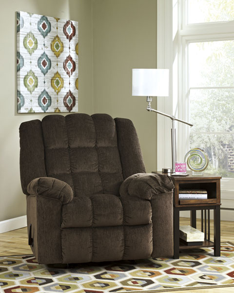 Ashley Furniture Ludden Rocker Recliner Cocoa 81104 - Home Furniture