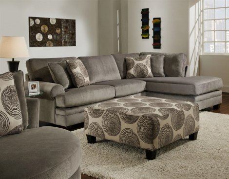 Albany Industries 8642 Groovy Smoke Sectional Home Furniture